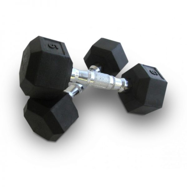 Rubber Hex dumbells
