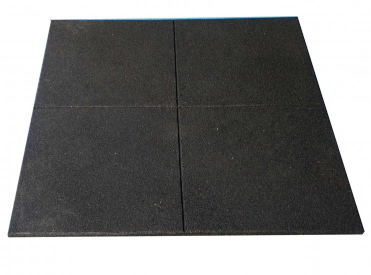 Premium Rubber Gym Flooring Tiles Silver Spec The