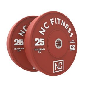 Bumper weight plate 25kg red