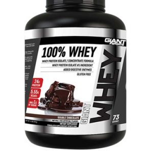 100% WHEY BY GIANT SPORTS DOUBLE CHOCOLATE 5LB