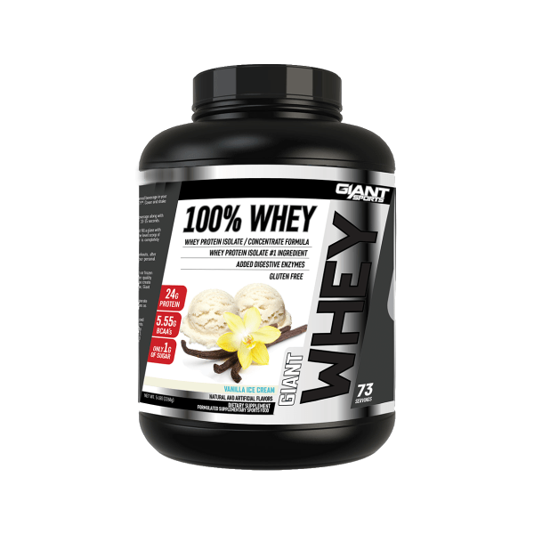 100% WHEY BY GIANT SPORTS VANILLA ICE CREAM 5LB