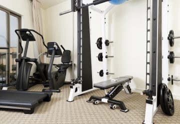 Weights and exercise machines in a home gym in melbourne