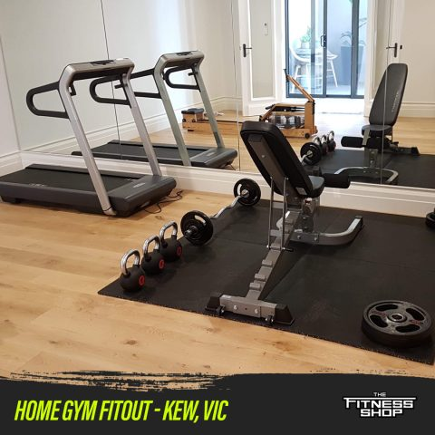 Home gym fitout completed in the Melbourne Area