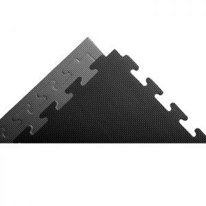 black & grey jigsaw gym mats