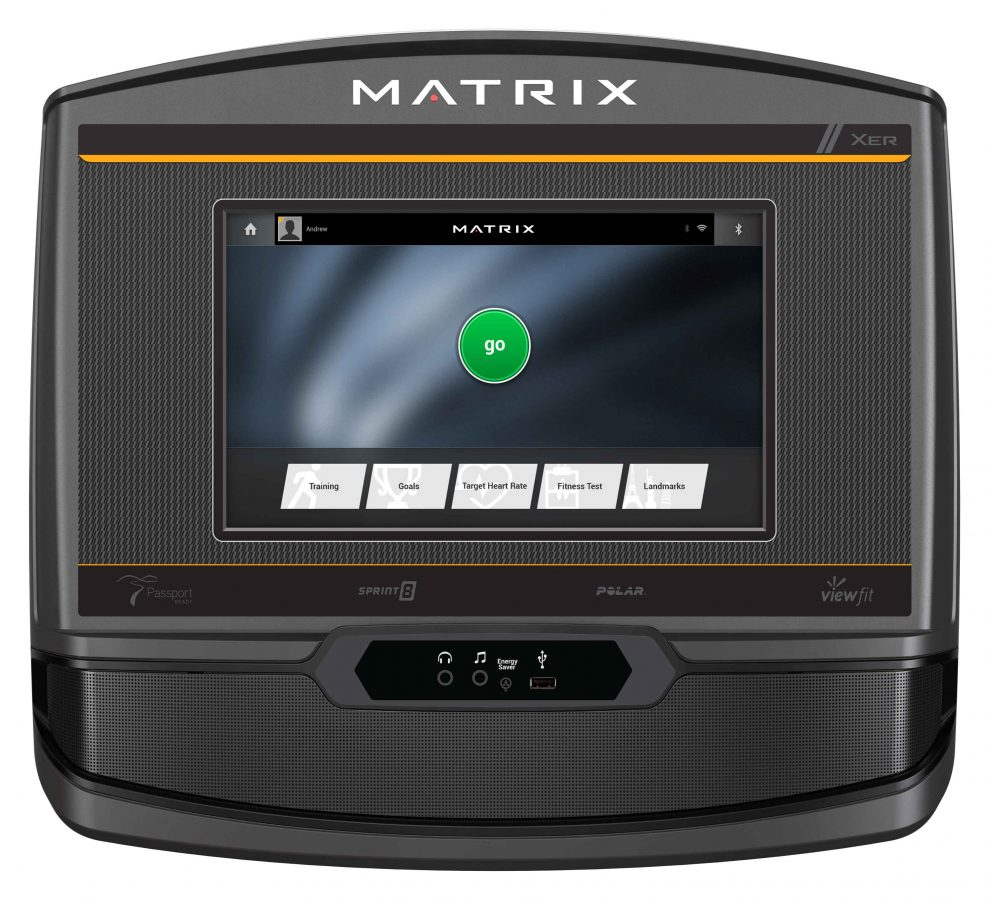 Matrix C50 Climbmill XER Console Close up