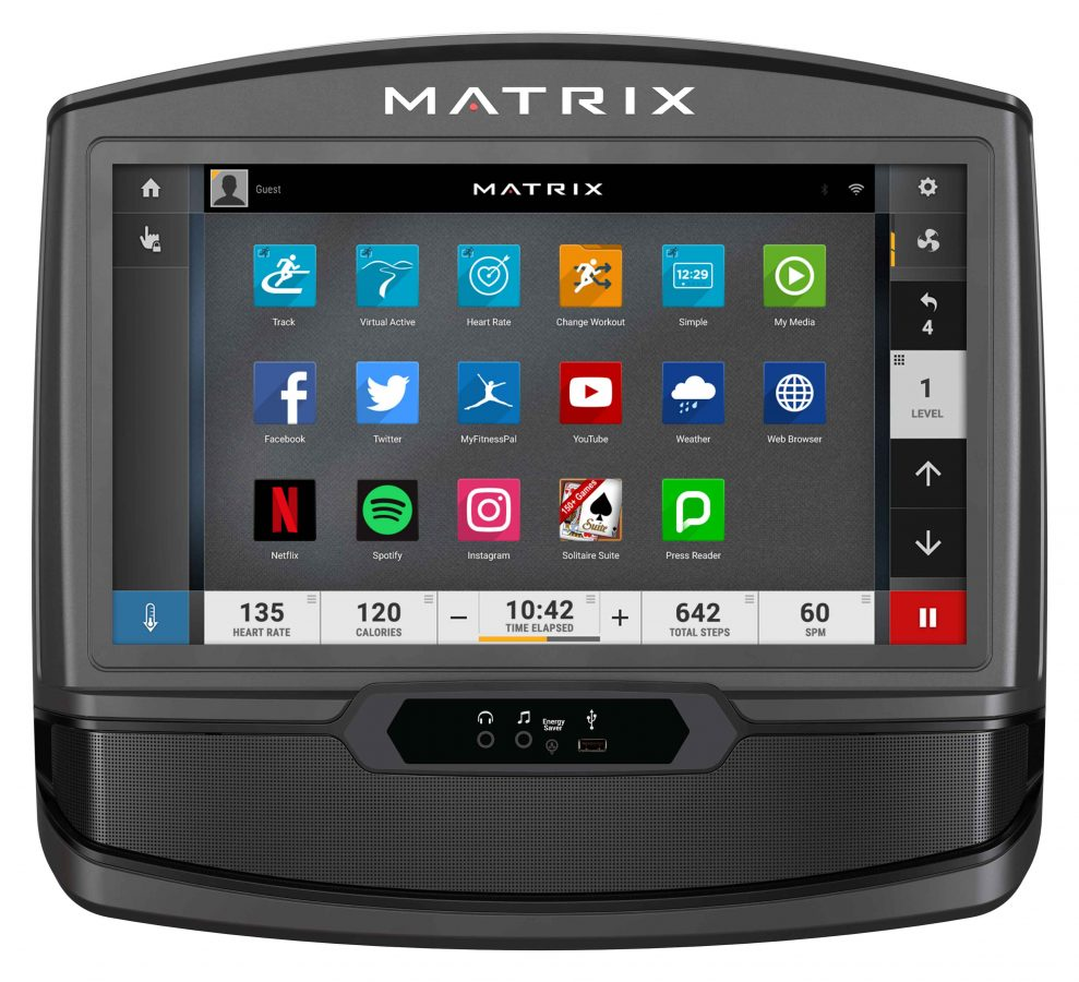 Matrix C50 XIR Climbmill App Interface Console