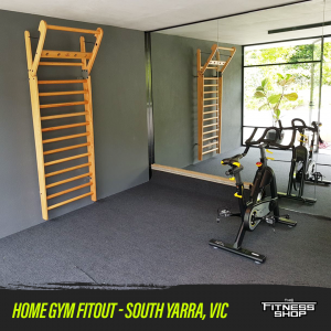 Home gym fitout in South Yarra, VIC
