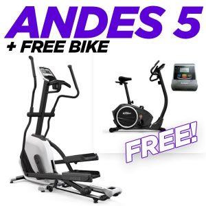 Horizon Andes 5 Elliptical Cross Trainer + Free Bike