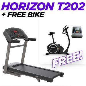 Horizon T202 Treadmill + Free Bike