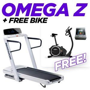 Horizon Treadmill Omega Z + Free Bike