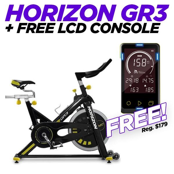 Horizon GR3 Indoor Fitness Bike + FREE LCD Console