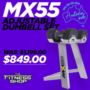 MX55 Adjustable Dumbell Set on sale at The Fitness Shop
